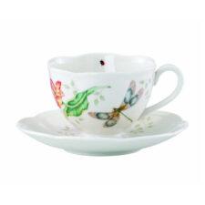 """Чашка чайная с блюдцем Lenox """"Бабочки на лугу.Стрекоза"""" 240мл"""