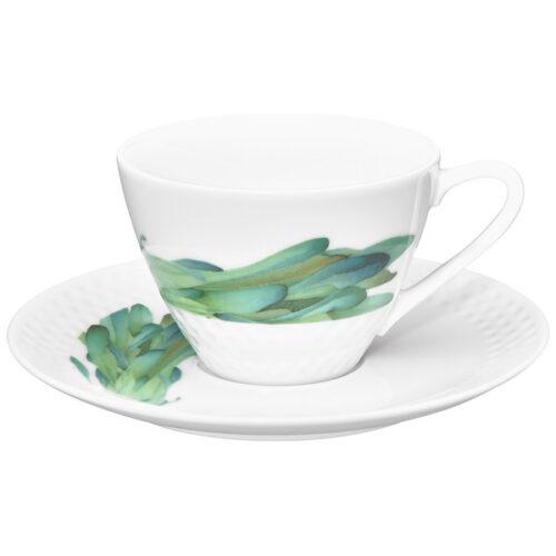 """Чашка чайная с блюдцем Noritake """"Овощной букет.Горчица"""" 210мл"""