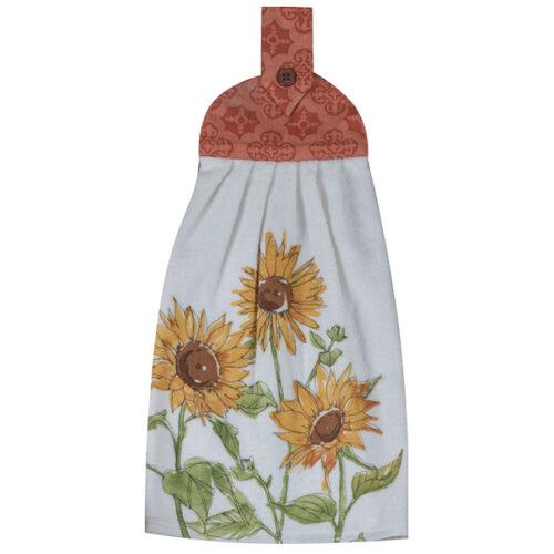 """Полотенце кухонное Kay Dee Designs с держателем """"Тосканская элегантность"""" 23х46см, хлопок"""