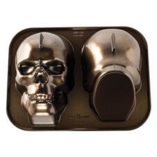 """Форма для выпечки 3D Nordic Ware """"Призрачный Череп"""" 2 л, литой алюминий (коричневая)"""