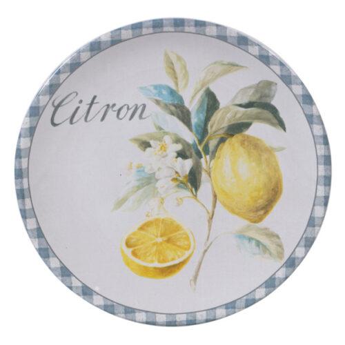 "Тарелка закусочная Certified Int. ""Лимоны"" 23см (Citron)"