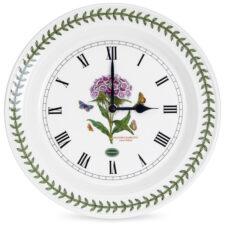 Часы настенные Portmeirion Ботанический сад.Гвоздика турецкая 25см, фарфор