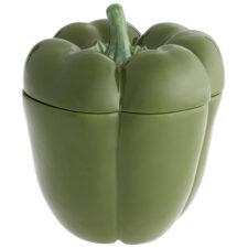 """Блюдо для горячего с крышкой Bordallo Pinheiro """"Перец"""" 22см, зеленый"""
