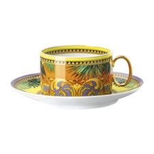 """Чашка чайная с блюдцем 14,5см Rosenthal Versace """"Мир джунглей"""" 200мл"""