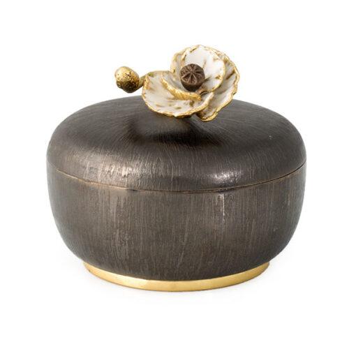 Чаша для конфет с крышкой Michael Aram Анемоны 10см, сталь нержавеющая