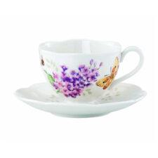 """Чашка чайная с блюдцем Lenox """"Бабочки на лугу"""" 240мл"""