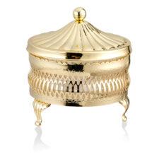 Паштетница круглая с крышкой Queen Anne 11см, сталь, золотой цвет