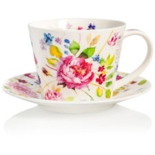 """Чашка чайная с блюдцем Dunoon """"Садовая роза.Айлей"""" 350мл"""