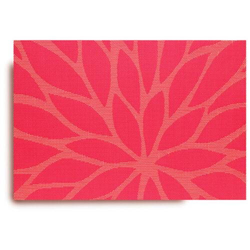 """Салфетка подстановочная 48х33см """"Цветочный жаккард"""", ярко-розовый"""