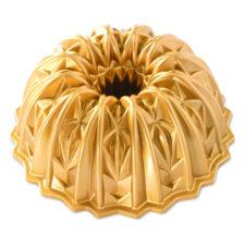 """Форма для выпечки 3D Nordic Ware """"Граненый хрусталь"""" 2,5л, литой алюминий (золотая)"""