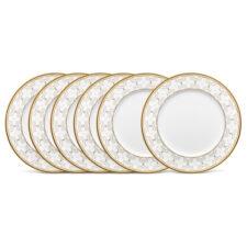 """Набор из 6 тарелок обеденных Noritake """"Трефолио,золотой кант"""" 28см"""