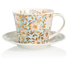 """Чашка чайная с блюдцем Dunoon """"Аква.Айлей"""" 350мл"""