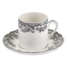 """Чашка кофейная с блюдцем 90мл """"Деламер, сельские мотивы"""""""