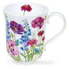 """Кружка Dunoon """"Загородные цветы в лиловых тонах.Бремор"""" 330мл"""