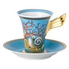 """Чашка кофейная с блюдцем 180мл """"Сокровища моря"""""""