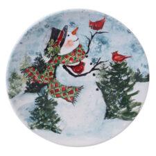 "Тарелка обеденная Certified Int. ""Снеговик"" 28см,керамика"