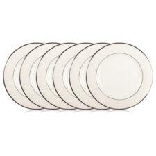 """Набор из 6 тарелок закусочных Lenox """"Чистый опал"""" 20,5см"""