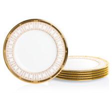 "Набор тарелок акцентных Noritake ""Чатлайн, золотой кант"" 24см, 6 шт"