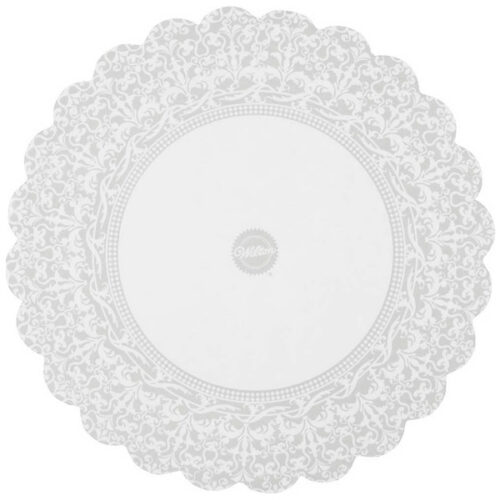 """Набор подложек для торта Wilton """"Кружева"""" 25,4см, 10шт, бумага (белый)"""