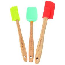 Набор из 3 силиконовых лопаток Nordic Ware с деревянными ручками, ассорти