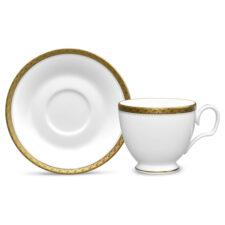 Чашка чайная с блюдцем Noritake Шарлотта Голд 240мл