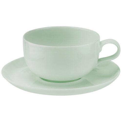 """Чашка чайная с блюдцем Portmeirion """"Выбор Портмейрион"""" 340мл (зеленая)"""