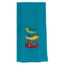 """Полотенце кухонное Kay Dee Designs """"Перцы. Чили"""" 45х71см, с вышивкой, синий, хлопок"""