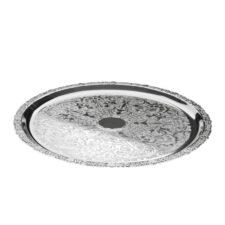 Поднос круглый Queen Anne 35см, сталь, посеребрение