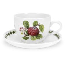 """Чашка для завтрака с блюдцем Portmeirion """"Помона.Красное яблоко"""" 500мл"""