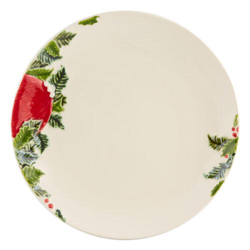 """Тарелка обеденная Bordallo Pinheiro """"Новогодние шары"""" 27,5см"""