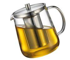 Чайник заварочный с ситечком, 1 л, стекло Kuchenprofi