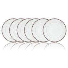 """Набор из 6 тарелок закусочных Noritake """"Рочель,платиновый кант"""" 22см"""
