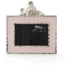 "Мини-рамка для фото Michael Aram ""Медвежонок"" 5х7,5см (розовая эмаль)"