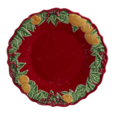 "Тарелка закусочная Bordallo Pinheiro ""Рождественская гирлянда"" 22см"