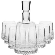 """Набор графин 0,95л и 6 стаканов для виски 300мл Krosno """"Фьорд"""" п/к"""