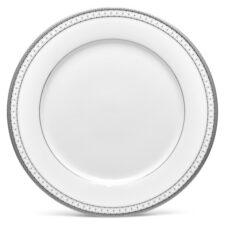 """Тарелка обеденная Noritake """"Рочестер,платиновый кант"""" 27см"""