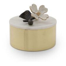Шкатулка Michael Aram Цветок кизила 11см, латунь
