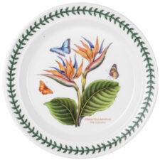 """Тарелка обеденная Portmeirion """"Ботанический сад.Экзотические цветы. Райская птица"""" 25см"""