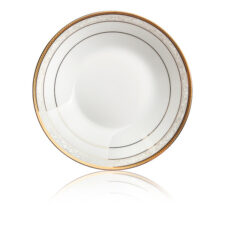 "Тарелка суповая Noritake ""Хэмпшир, золотой кант"" 19см"