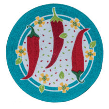 "Салфетка подстановочная круглая Kay Dee Designs ""Перцы"" d37см, плетеная, хлопок"