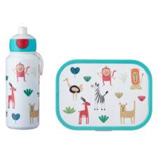 Набор детский ланч-бокс и бутылка для воды Mepal 400мл+750мл (животные)