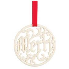 """Украшение новогоднее,медальон Lenox """"Счастье"""" 6см"""