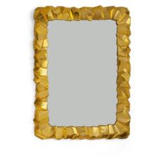 "Зеркало Michael Aram ""Золотая скала"" 61х85см"