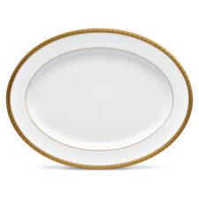 Блюдо овальное Noritake Шарлотта Голд 34,5см