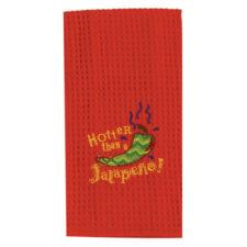 """Полотенце кухонное Kay Dee Designs """"Перцы.Халапеньо"""" 45х71см, с вышивкой, красный, хлопок"""