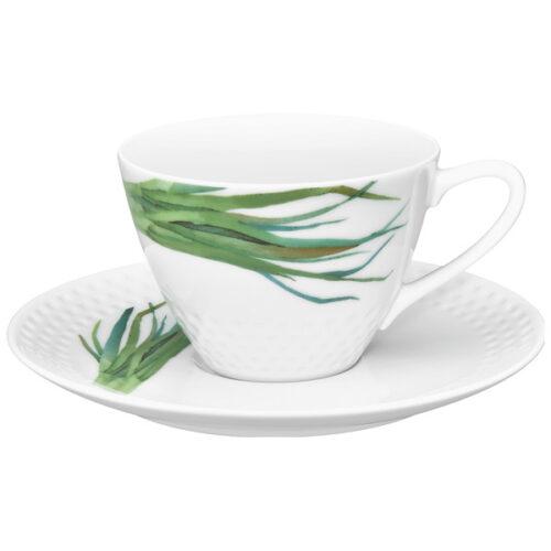 """Чашка чайная с блюдцем Noritake """"Овощной букет.Зелёный лук"""" 210мл"""