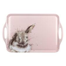 """Поднос прямоугольный с ручками Pimpernel """"Забавная фауна. Пушистый кролик"""" 48х30см"""