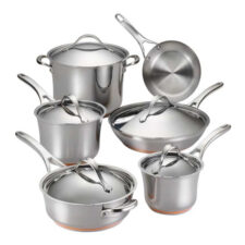 "Набор кухонной посуды из 11 предметов Anolon ""Nouvelle Stainless"""