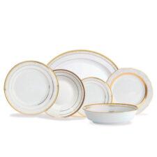 Сервиз столовый Noritake Хэмпшир,золотой кант на 6 персон 26 предметов, фарфор