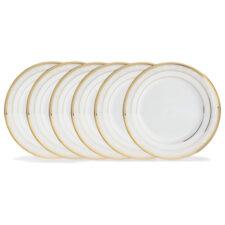 "Набор из 6 тарелок обеденных Noritake ""Хэмпшир, золотой кант"" 27см"